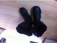 motorcycle boots size 8 black sports boots