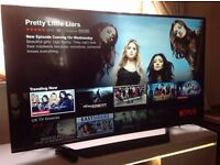 """LG 55"""" Smart ULTRA SLIM 4K UHD LED TV-55UF770V,built in Wifi,Freeview & FREESAT HD,GREAT Condition"""