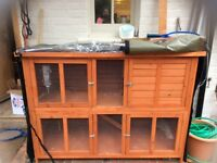 Nearly new Guinea pig /rabbit hutch and all weather cover for sale