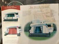 Large drive away motor home awning+associated camping gear