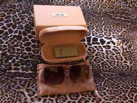 Miu Miu pink spakles dual layers women sunglasses in original case