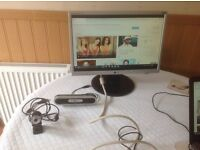 LG Monitor,power and vga cables, USB Webcam and USB speaker