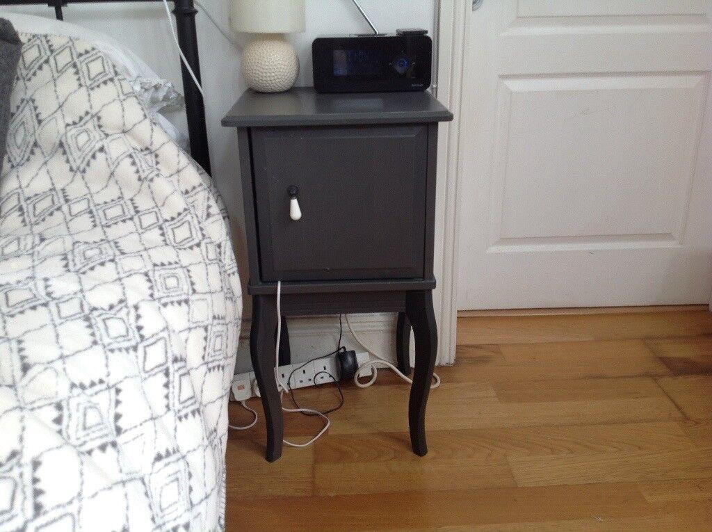 Pair Of Ikea Edland Bedside Tables Slate Grey