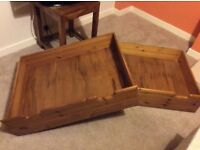Solid Wood Under-bed Storage Drawers