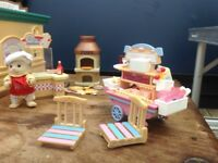 Sylvanian Family Pizza and Candy Cart