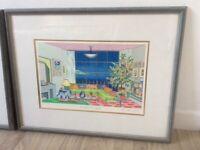 Pictures Michel Loeb signed prints x 2 framed Le Salon Picasso/Le Salon Gogh