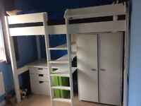 Stompa high sleeper bed with wardrobe