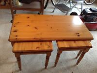 Coffee tables - one large with two smaller ones underneath