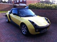 Smart Roadster 80 CABRIO (RHD), *LOW MILEAGE*, Yellow and Black Convertible, 2005,