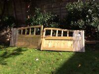 Brand new wooden gates
