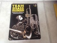 Team brass music book for trumpet and cornet