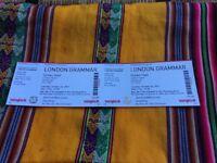 2x London Grammar Tickets - Edinburgh 24th October