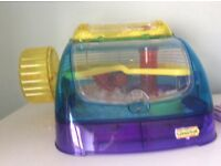 Colourful hamster cage