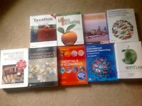 University Text Books - Accountancy Degree Course.