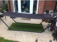 Black garden hammock in excellent condition