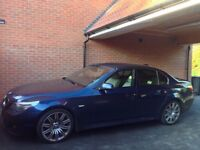 Chauffeur driven BMW 535d M Sport saloon at your service