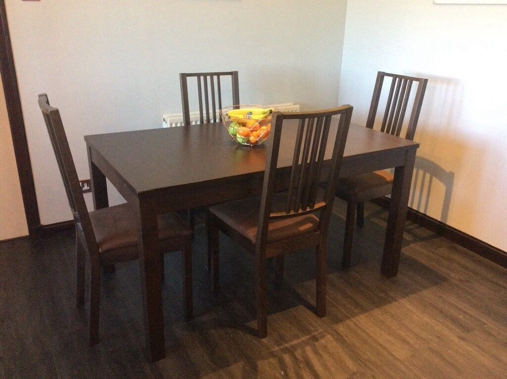 Extending Dining Table And Four Chairs REDUCED FOR QUICK SALE