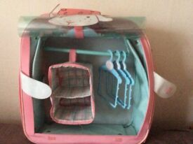 Baby anabelle doll wardrobe/travel suitcase