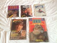 Bundle of Indiana Jones,Superman 2 and Star Wars: Return of the Jedi poster magazines