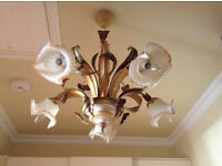 Italian glass Chandelier. Immaculate condition.