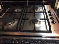 Neff stainless steel gas 4 burner hob