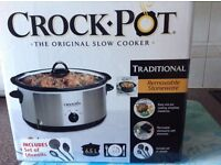 Slow Cooker 6.5 litres used ounce perfect condition.