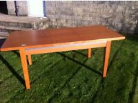 Sturdy modern extending dining table