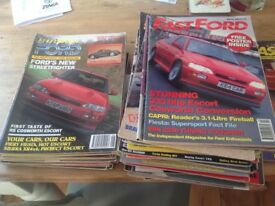 53 Fast Ford and Performance Ford magazines cosworth,Mexico capri