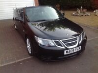 Saab 9-3 Vector Convertable 1.9 TID Blk 2009 (150BHP) long MOT FSH brilliant car