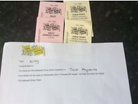 Bakewell show tickets x4