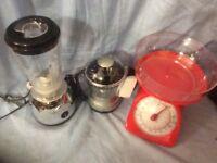 Kitchen scales, Juicer & Blender