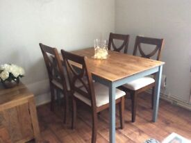 Four wooden dining chairs good condition