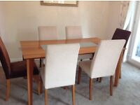 Dining Table and 6 Chairs - Contemporary modern design - good condition