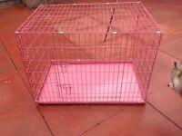 Easipet large pink dog cage