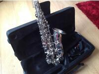 Silver plated Slade alto saxophone