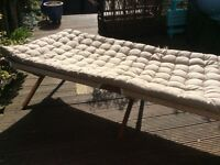 Retro Style camp bed and mattress in carrying bags