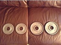 Iron cast Olympic Jordan weight plates no offers