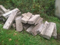 Kerb stones concrete, commercial 1m x 0.35m roadside kerbs, good condition, can deliver