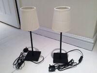 2 x IKEA HEMMA table lamps
