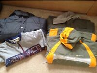 Boys jackets, fleecy dressing gown and onesie age 9/10,11/12, 13/14