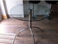 High quality Italian designer circular glass table (from Housing Units in Manchester)