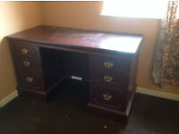 Dark wood dressing / Study table