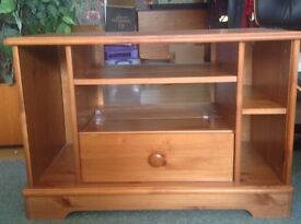 TV stand with drawer and shelves FREE