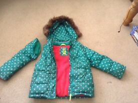 Girls mini boden coat age 5-6 in very good condition
