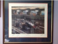 F1 Formula One Limited Edition signed print