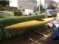 13 foot long kayak complete with paddle