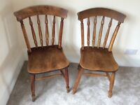 Victorian Oak Spindle Chairs