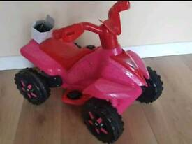 Beautiful little girls battery operated quad. Immaculate
