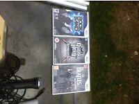 Guitar Hero, Rock Band & The Beetles Rockband games