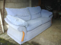 Blue sofa very comfy - fire retardant